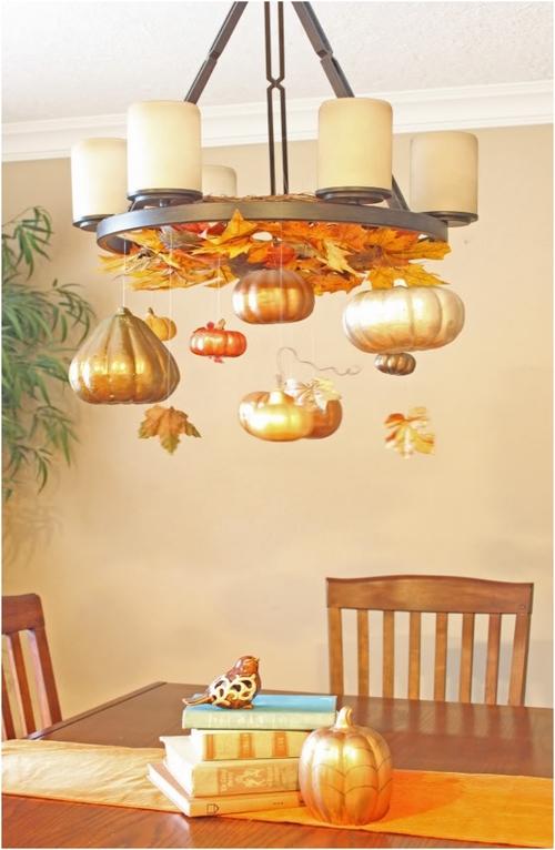 diy fall chandelier decorations
