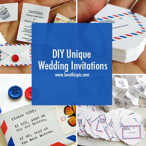 diy unique wedding invitations