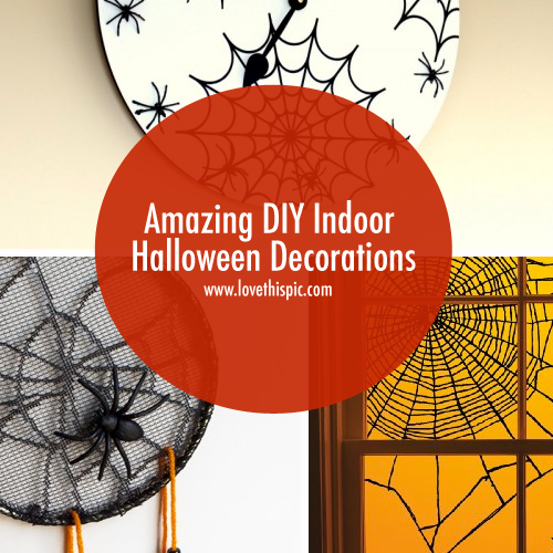 halloween decorations indoor crafts and decoration projects facebook twitter pinterest google - Diy Halloween Decorations Indoor