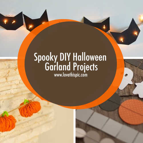 Spooky DIY Halloween Garland Projects