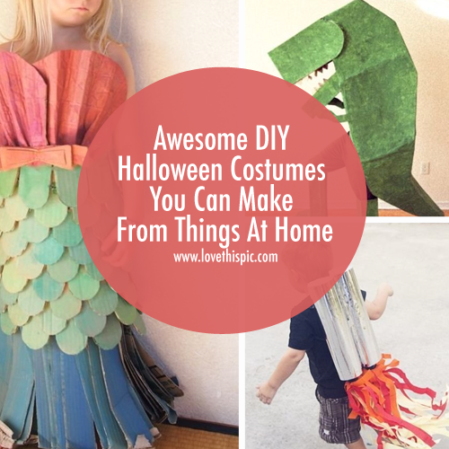 Awesome DIY Halloween Costumes You Can Make From Things At