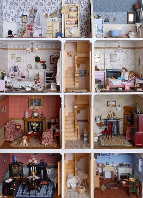 Мебели для кукольного домика своими руками фото