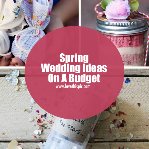 wedding ideas for spring on a budget wedding ideas on a budget 27818