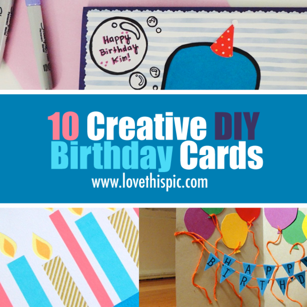 10 Creative Diy Birthday Cards