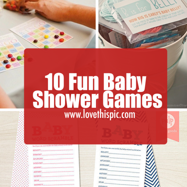 10 fun baby shower games