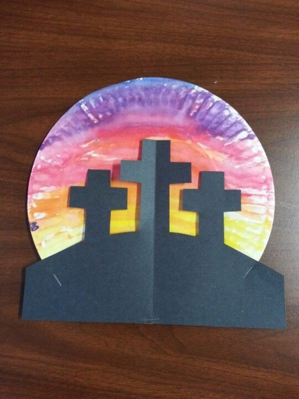 10 religious easter crafts for kids for Cardboard crosses for crafts