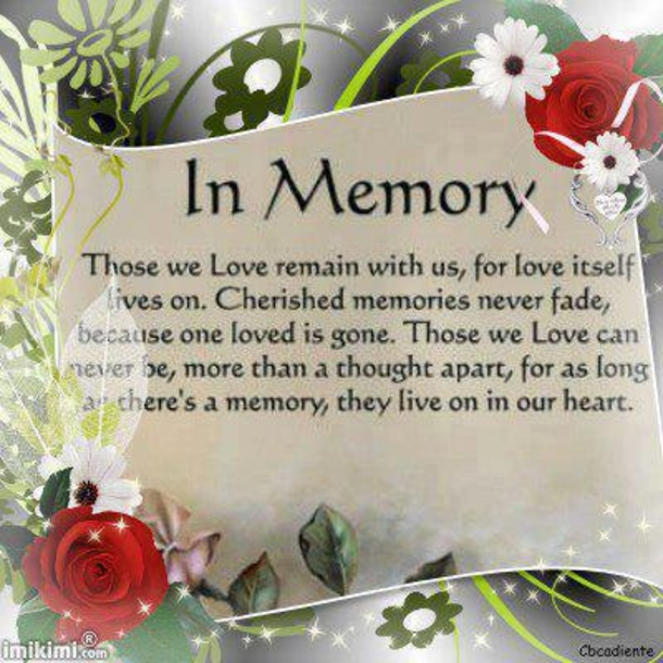 In Loving Memory Sayings And Quotes Awesome 10 In Memory Quotes And Sayings