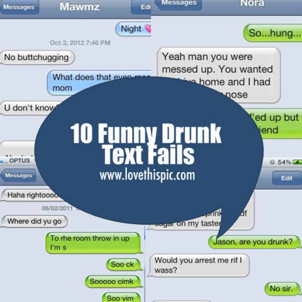 10 Funny Drunk Text Fails