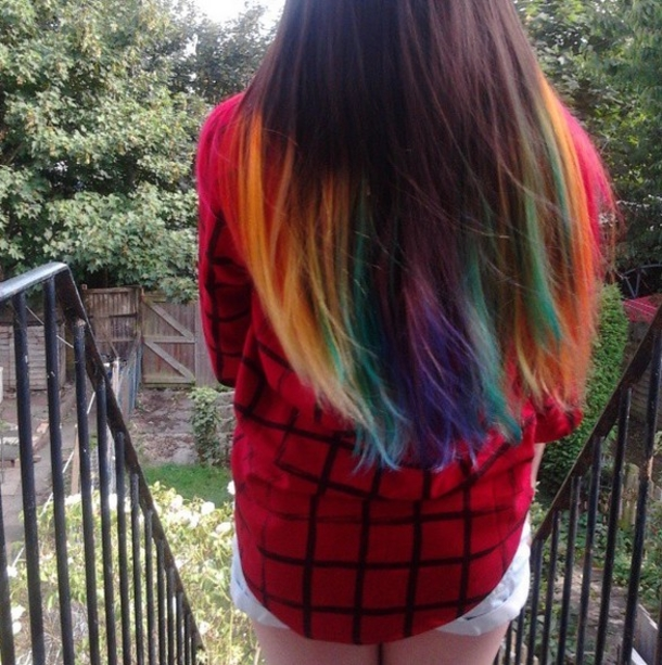Colorful Hairstyles 20 cotton candy check out this amazing blend of pinks corals blues and purples some colors could mix together and give circus clown results 30 Colorful Hairstyles And Ideas