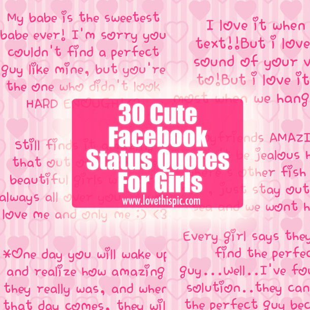 Cute quotes about life for facebook status