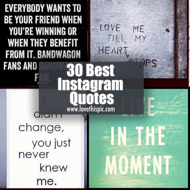 30 Best Instagram Quotes