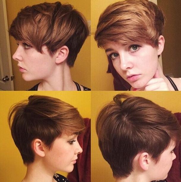 Короткие причёски молодежные
