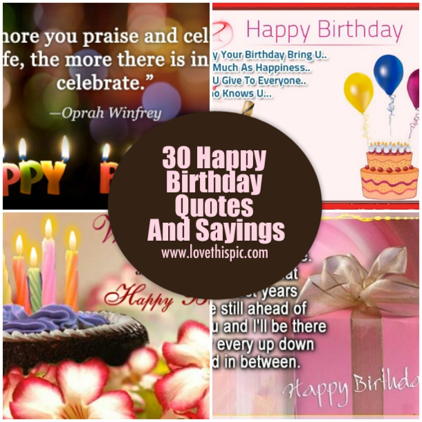 Y Birthday Quotes | 30 Happy Birthday Quotes And Sayings