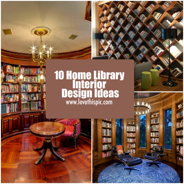 Fun And Cozy Library Design By Yta: 10 Home Library Interior Design Ideas