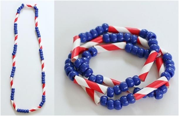 Http Buggyandbuddy Com Th July Craft Kids Patriotic Necklace