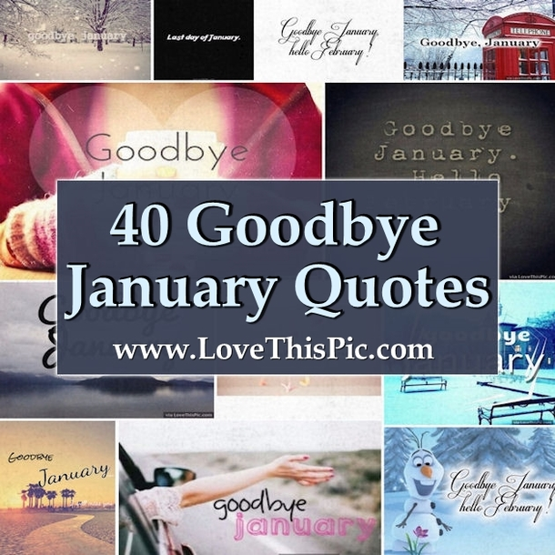 40 Goodbye January Quotes