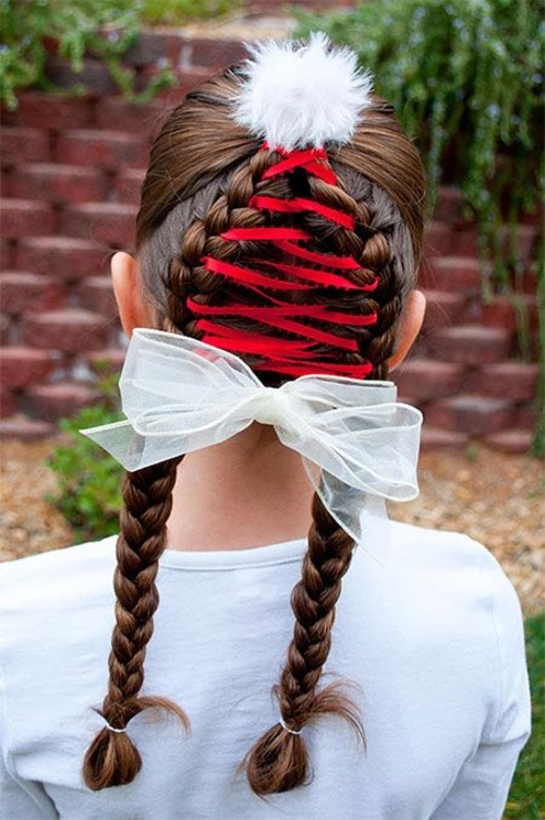 Christmas Hairstyles For Kids.Creative Cute Christmas Hairstyles For Women