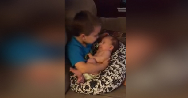 Mother catches son fucking sister