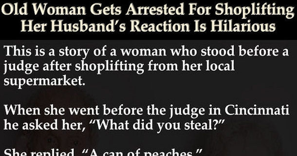 89 Year Old Woman Gets Arrested For Shoplifting. Her