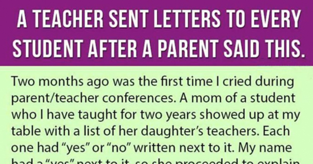 Teacher Writes Letters To Her Students After A Parent Said