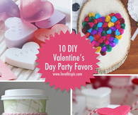 10 DIY Valentines Day Party Favor