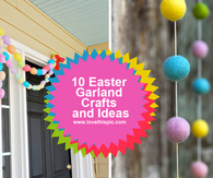 10 Easter Garland Crafts and Ideas