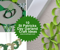 10 St Patricks Day Garland Craft Ideas