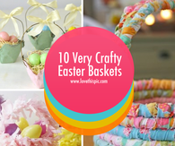 10 Very Crafty Easter Baskets