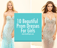 10 Beautiful Prom Dresses For Girls