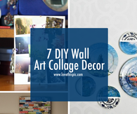 7 DIY Wall Art Collage Decor