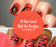 10 Hot Coral Nail Art Designs