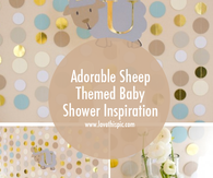 Adorable Sheep Themed Baby Shower Inspiration