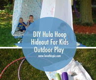 DIY Hula Hoop Hideout For Kids Outdoor Play