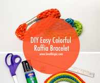 DIY Easy Colorful Raffia Bracelet