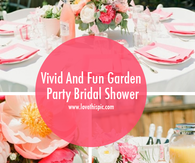 Vivid And Fun Garden Party Bridal Shower