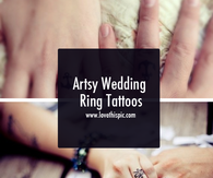 Artsy Wedding Ring Tattoos