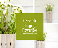 Rustic DIY Hanging Flower Box