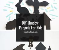 DIY Shadow Puppets For Kids