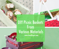 DIY Picnic Baskets From Various Materials