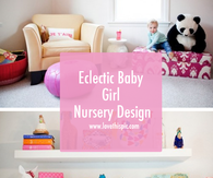 Eclectic Baby Girl Nursery Design