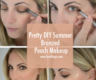 Pretty DIY Summer Bronzed Peach Makeup