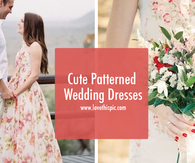 Cute Patterned Wedding Dresses