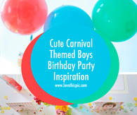 Cute Carnival Themed Boys Birthday Party Inspiration
