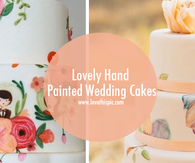 Lovely Hand Painted Wedding Cakes