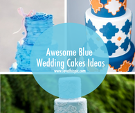Awesome Blue Wedding Cakes Ideas
