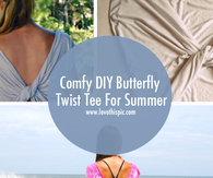 Comfy DIY Butterfly Twist Tee For Summer