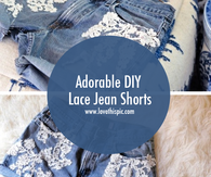 Adorable DIY Lace Jean Shorts