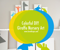 Colorful DIY Giraffe Nursery Art