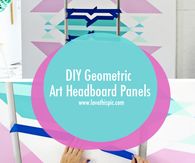 DIY Geometric Art Headboard Panels