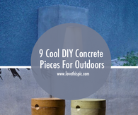 9 Cool DIY Concrete Pieces For Outdoors